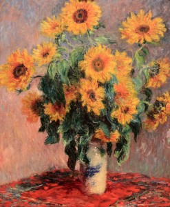 'Bouquet of Sunflowers' by Claude Monet (1881 AD).