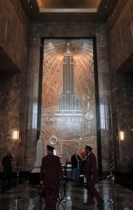 The lobby inside the Empire State Building.