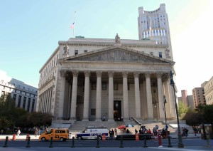 The New York State Supreme Court Building.