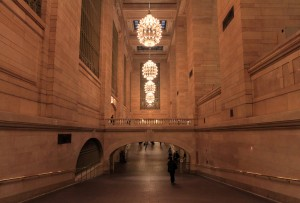 Ramp to the Lower Concourse in Grand Central Terminal.