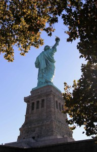 One last shot of the statue on Liberty Island.