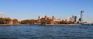 Ellis Island, the United States' busiest immigrant inspection station from 1892 until 1954 AD.