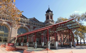The Main Building on Ellis Island, built in 1900 AD.