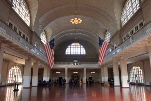 The Great Hall inside the Main Building, where immigrants were processed.