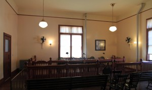 The Hearing Room (located in the Main Building), used for legal hearings.