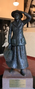 Statue of Annie Moore, the first immigrant processed at Ellis Island, on January 1, 1892.