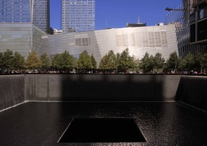 The South Pool at the National September 11 Memorial.
