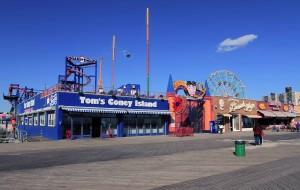 The boardwalk at Coney Island.