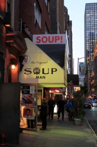 "The Original Soup Man restaurant on 55th Street, run by Ali ""Al"" Yeganeh (also known as the ""Soup Nazi"")."