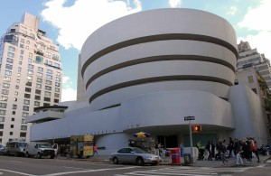 The Solomon R. Guggenheim Museum; designed by Frank Lloyd Wright, the building opened in 1959 AD.