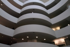 Another view of the atrium inside the Solomon R. Guggenheim Museum.
