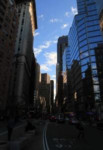 On Broadway, south of Columbus Circle.