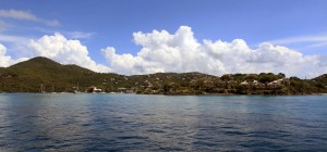 Looking back at St. John Island on my way back to St. Thomas.