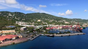 Charlotte Amalie West, seen from the top of the cruise ship.
