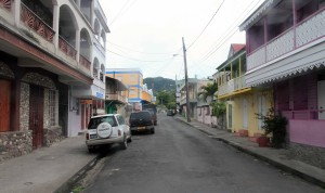 Street in Roseau, Dominica.