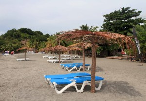 Loungers at Mero Beach.