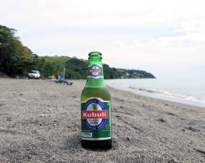Kubuli beer, brewed in Dominica.