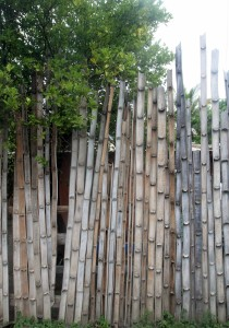 Bamboo fence in Mero.
