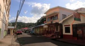 Central Depradine Street in Gouyave, Grenada.