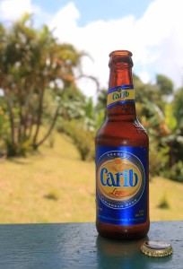 Carib beer, brewed in Grenada.