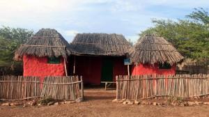 Recreation of historic huts used in Bonaire, located in Mangazina di Rei Culture Park.
