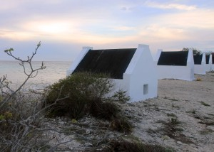 Slave huts on the south end of Bonaire - used as shelters for the slaves working in the salt pans during the 19th-century AD.