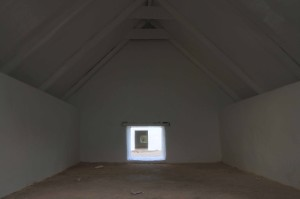 Inside one of the slave huts.