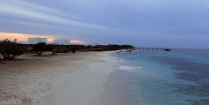 The pier at Bonaire National Marine Park.