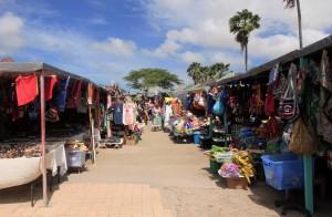 A market in Oranjestad.