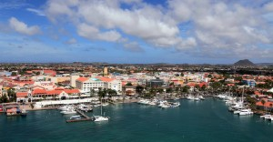 Oranjestad seen from the MS Royal Princess.