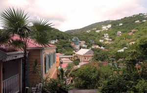 Homes on the hillsides in Charlotte Amalie.
