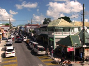 St. Mary's Street in St. John's, Antigua.