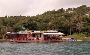 Chateau Mygo restaurant at Marigot Bay.