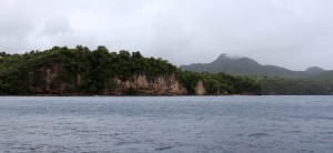 Cliffs on the west coast of Saint Lucia.