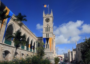 The Parliament building in Bridgetown, Barbados.