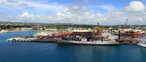 The port at Bridgetown, seen from the MS Royal Princess.
