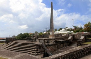 The War Memorial in Basseterre.