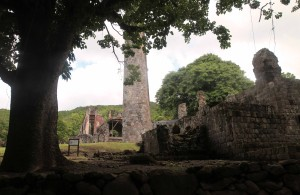 Ruins of an old sugar mill on Saint Kitts.