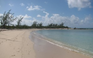 The beach at Princess Cays, on the southern end of Eleuthera Island in the Bahamas.
