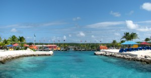 The Love Boat Marina, where the tenders dock at Princess Cays.