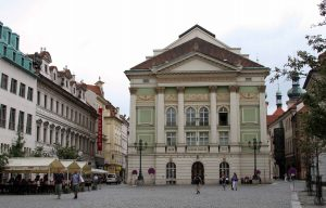 The Estates Theater; built in 1783 AD, this is where Mozart's 'Don Giovanni' first premiered on October 29, 1787 AD.