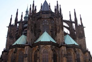 The east end of St. Vitus Cathedral.