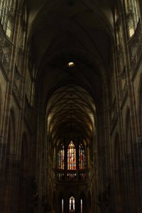 The interior of St. Vitus Cathedral.