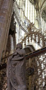 Sculpture inside St. Vitus Cathedral.