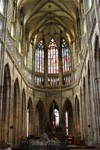 The altar in St. Vitus Cathedral.