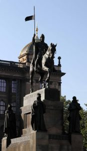 The Wenceslas Monument in front of the National Museum.