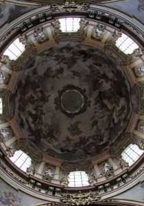The interior of the dome in St. Nicholas Church.
