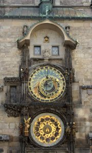 The Astronomical Clock on the Old Town Hall; it was installed in 1410 AD and it is it the third-oldest astronomical clock in the world and the oldest one still operating.