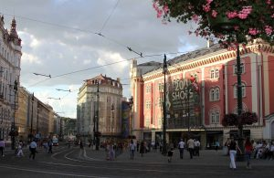 The Centrum Palladium, a shopping mall in Prague.