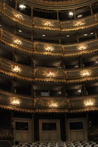 The interior of the Estates Theater.